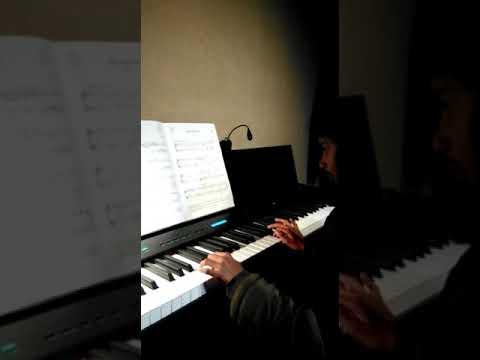 Malathi tocando las piezas de su examen